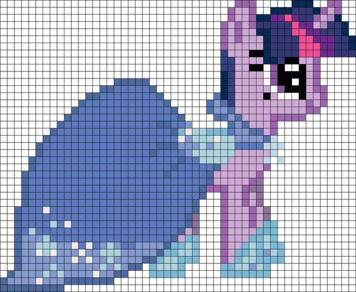 Twilight Gala My Little Pony perler bead pattern