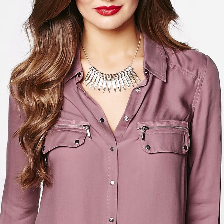 Revive your office wardrobe with this fabulous raisin blouse!