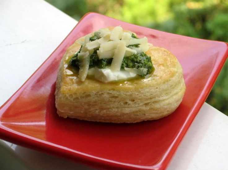 Goat Cheese Mousse and Basil Pesto vol-au-vents