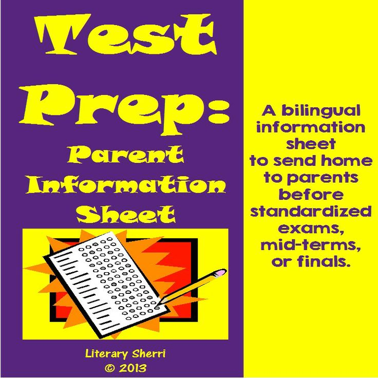 A short-and-sweet parent information sheet to send home just before standardized exams or finals, this handout is full of practical, easy-to-implement ideas parents can use to help their child(ren) be ready for the big day! Presented in both English and Spanish!   #middleschoolela   #testprep