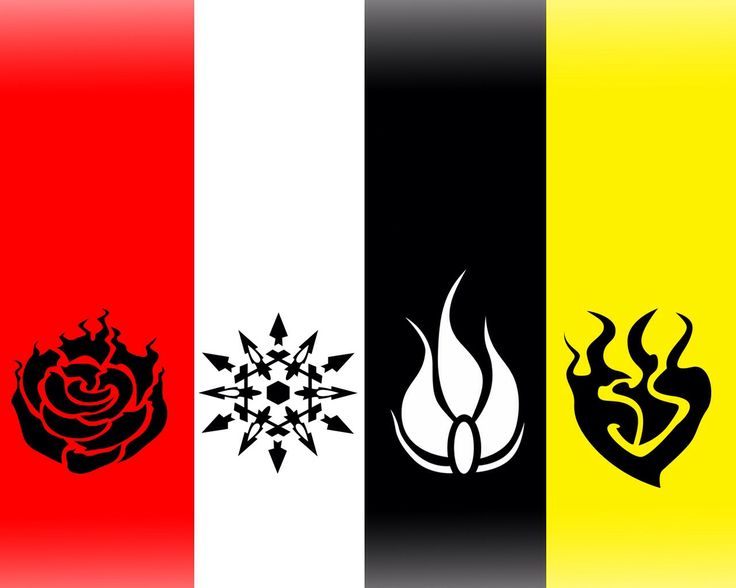 Team RWBY's Symbols maybe Ruby's