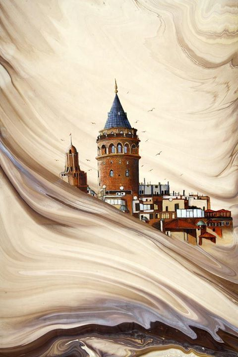 Art by Abdulvahap Ertekin,Galata Kulesi-Turkey