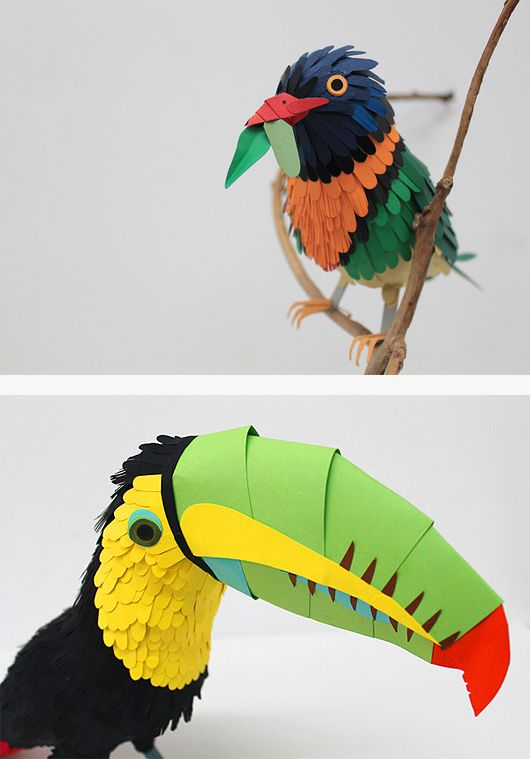 Colourful Paper Birds by Diana Beltran Herrera