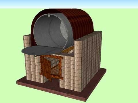 Horno barril 55 gal chimeneas hornos de barro y piedra - Chimeneas de barro ...
