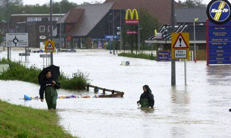 Climate change may affect the jet stream more than scientists previously expected, making floods in the UK more likely.