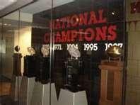 look at that trophy case...Nebraska football...Nuff said
