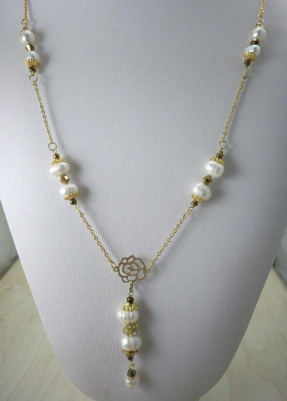 Pearl Gold NecklaceBeauty GiftDainty Gold Necklacewedding