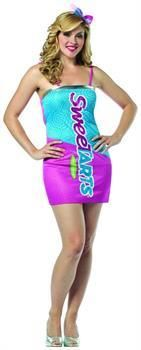 Women's Nestle SweeTarts Costume Mini Dress Adult