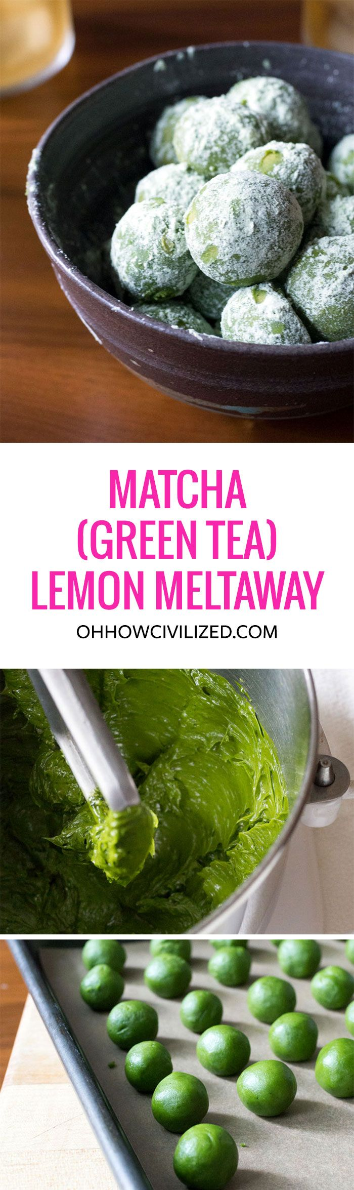Queenie came up with this mini matcha lemon meltaway cookie recipe that pairs perfectly with tea — hot or iced.I'm warning you now: these cookies  are highly ad
