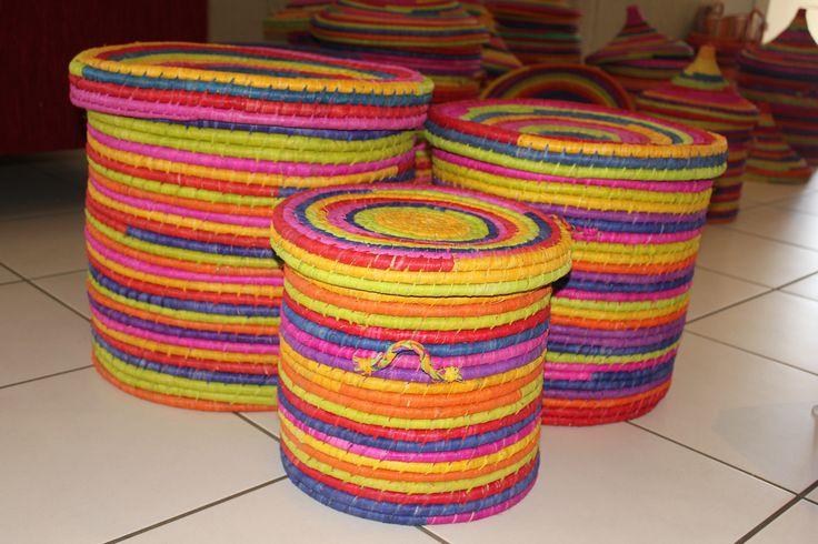 From Denny's Bags and Baskets   Storage Hamper Raffia handmade in Madagascar