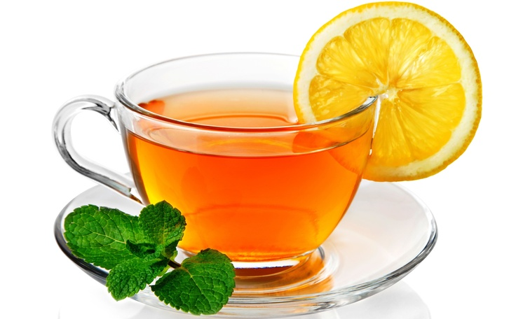 Wallpaper Orijinal çay, limon, nane, fincan, şeffaf Arkaplan Download Resim, Resim WallpapeprsCraft