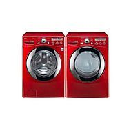LG 3.6 cu. ft. Extra-Large Capacity Steam Front-Load Washer and Dryer - Bright Red...how fun would that be!