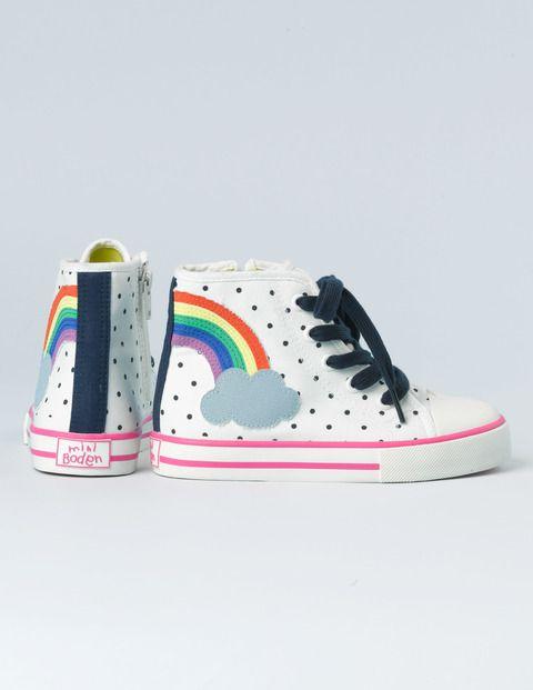 Mini Boden #rainbow Appliqué High Tops