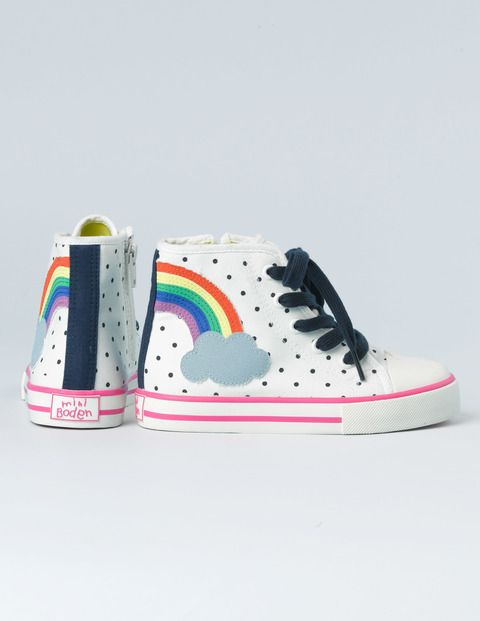 Appliqué High Tops // Boden Would be perfect for scooting! // ScooterSlingz - take the hassle out of scooting