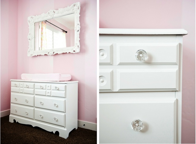 Loveeee Already Bought New Crystal Knobs For The White Dressers And