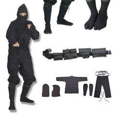 Shinobi Ninjutsu Stealth Ninja Uniform Gift Set For Sale | All Ninja Gear: Largest Selection of Ninja Weapons | Throwing Stars | Nunchucks