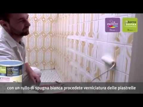 RINNOVARE LE PIASTRELLE DI BAGNO E CUCINA - YouTube