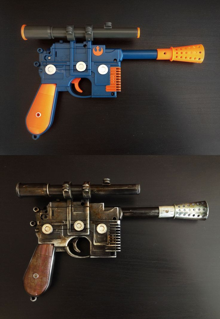 STAR WARS blaster DIY! - Album on Imgur I think that I might paint Rey 's, if I get one.