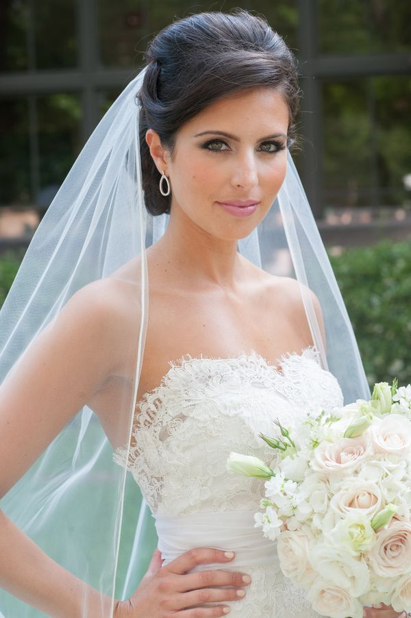Stunning bridal photo! I love cathedral veils! by Janet Lanza Photography