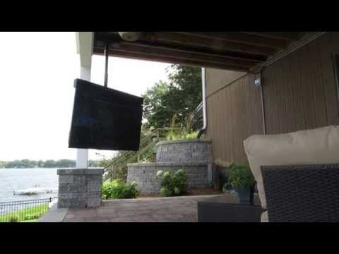 SkyVue TV on moveable track mount - YouTube