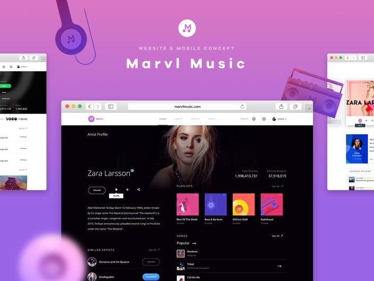 다음 @Behance 프로젝트 확인: \u201cMarvl Music : Experience\u201d https://www.behance.net/gallery/46167053/Marvl-Music-Experience