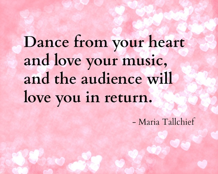 Dance Quotes: Ballerina, Peace And