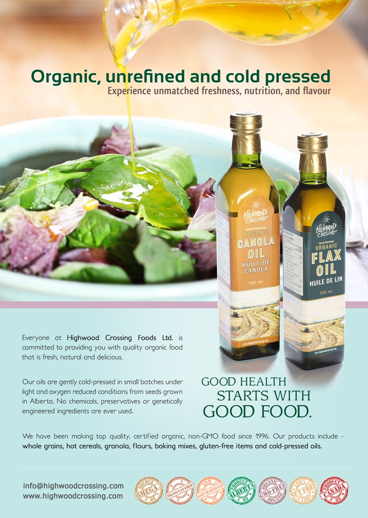 Flax Oil Sell Sheet Flyer Design