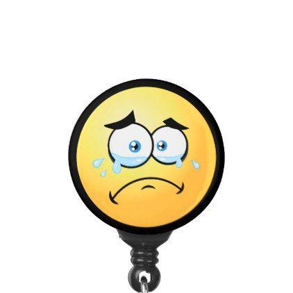 #Crying Emoji Name Badge Holder - #emoji #emojis #smiley #smilies