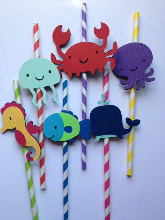 Set Of 12 Under The Sea Themed Party Straws by MiaSophias on Etsy, $16.99