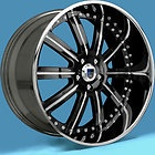 22 Black and Chrome Rims Asanti Lexani - 22quot, Asanti, Black, CHROME, Lexani, rims