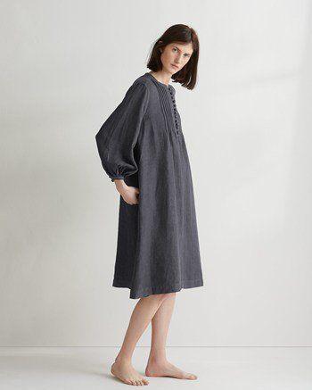 Women's Linen Smock Dress