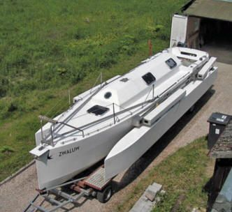 Pre owned folding Chrispijn trimaran occasion