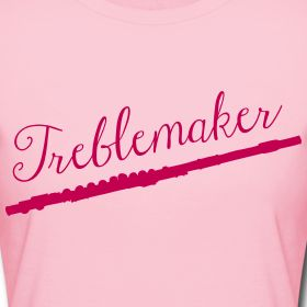 Treblemaker tee for flute players. Women's Slim Fit T-Shirt by American Apparel