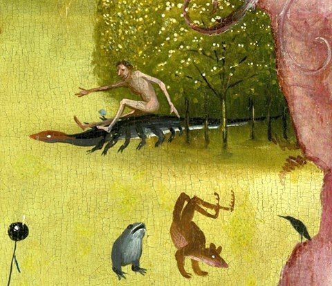 Hieronymus Bosch 1450-1516 Garden of Earthly Delights 1494 -1505 Details.
