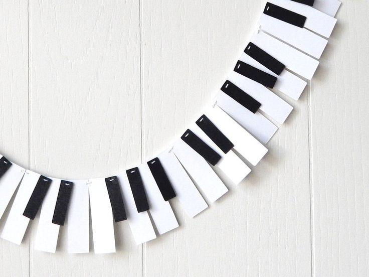 Piano Garland / 88 Key Mini / Music Garland / by ElisabethNicole