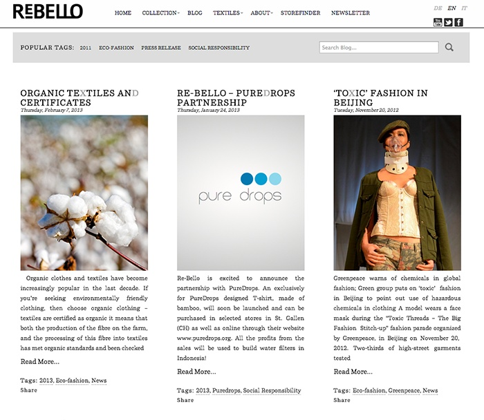Re-Bello.com Fashion - Larin Communication www.re-bello.com