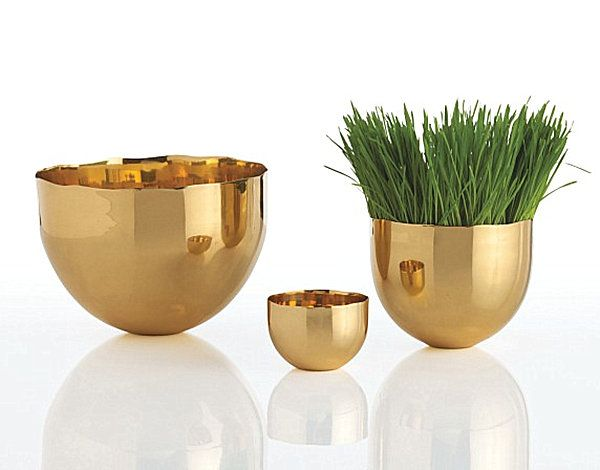 Brass Is Back: 12 Brass Decor Pieces to Love in 2013 These bowls are $300 which is insane but I'd love to find something similar.
