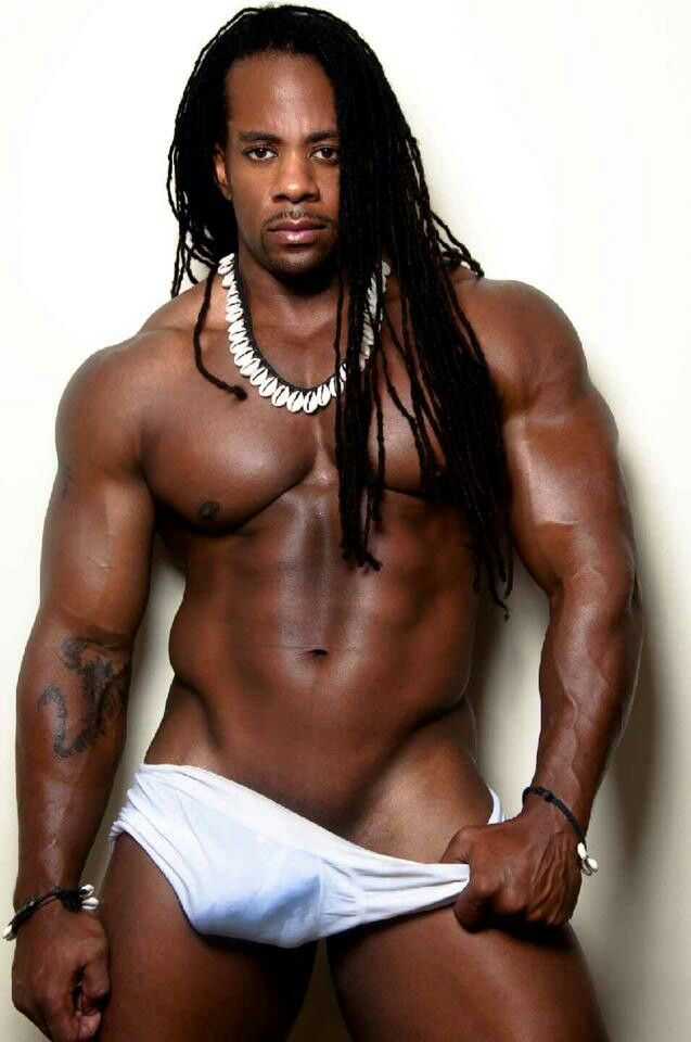 Man models muscle xxx black