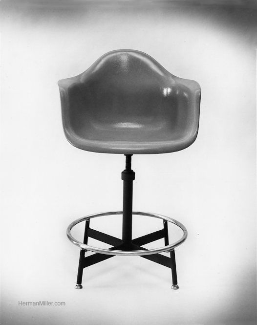 An Eames Drafting Chair. The 622NA. This Chair Came In Two Heights, Both