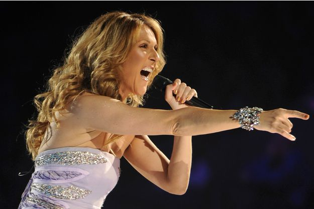 Céline Dion en concert en 2009.