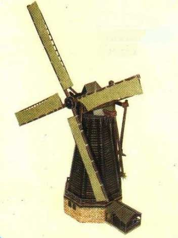 17th Century Netherlands Windmill Free Paper Model Download - http://www.papercraftsquare.com/17th-century-netherlands-windmill-free-paper-model-download.html#1150, #BuildingPaperModel, #Windmill