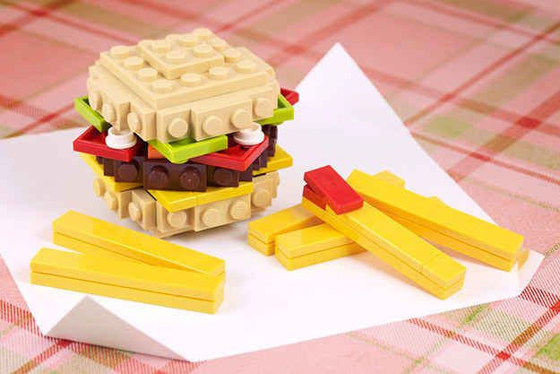 ...to a fast food combo meal...   21 Whimsical LEGO Creations By Chris McVeigh