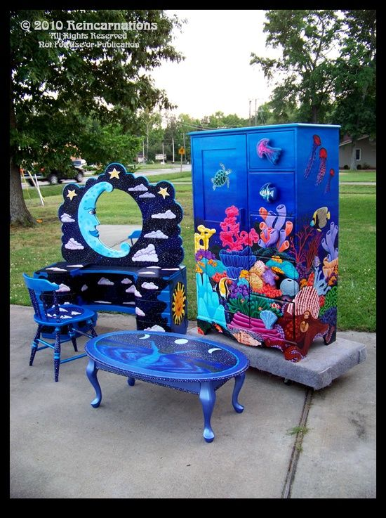Painted Furniture Collection by ReincarnationsDot... on @deviantART