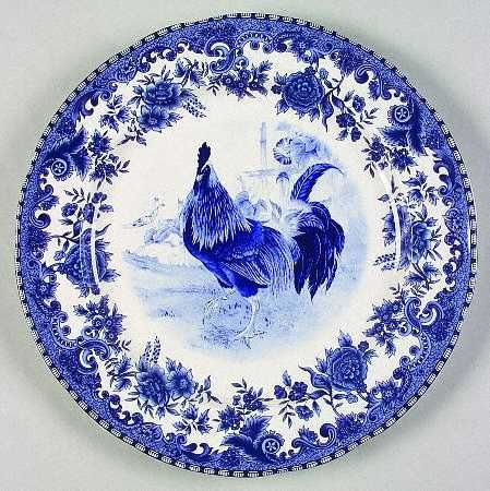 blue rooster plate....beautiful..would love to have a whole set of dishes in this pattern!!