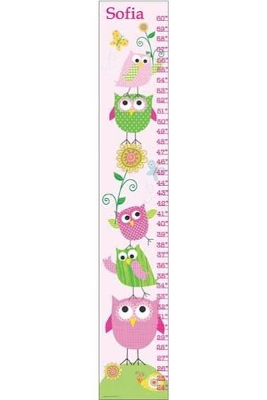 Stupell Industries The Kids Room Owls Growth Chart