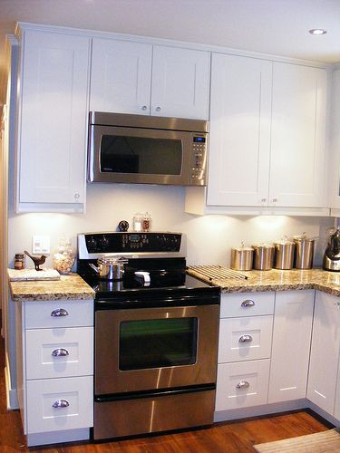 Stove with microwave above, ikea kitchen