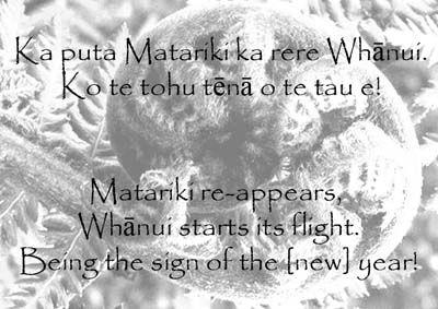 Matariki Maori Proverb