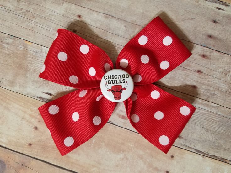 Chicago bulls headband-chicago bulls hair clip-chicago bulls hair bow-chicago bulls for toddler-chicago bulls for baby-chicago bulls gift by CocoandEllieDesign on Etsy