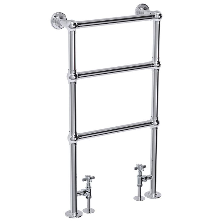 Hamilton Traditional 949 x 498mm Chrome Towel Rail profile large image view 1