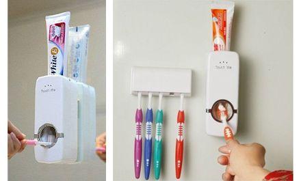 Dispenser de pasta dental y porta cepillos a sólo $199!